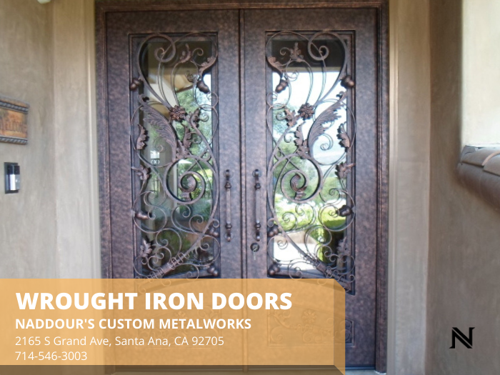 Why Select Wrought Iron Doors Iron-Works-Santa-Ana-wrought-iron-doors-Naddour_s-Custom-Metalworks-92705